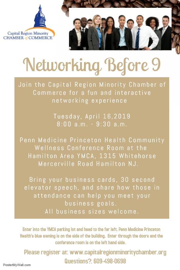 Monthly Networking Before 9 – Capital Region Minority